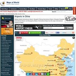 China Airports Map