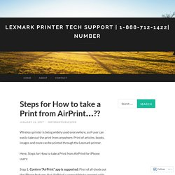 Steps for How to take a Print from AirPrint…??