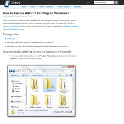 How to Install AirPrint to Enable Wireless Printing on Windows?