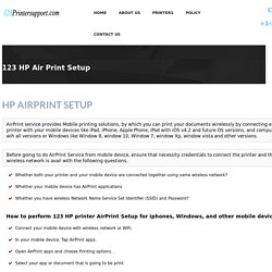 123 HP AirPrintPrinter Setup &Install
