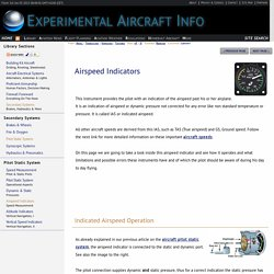 Working with Airspeed Indicators in Aircraft