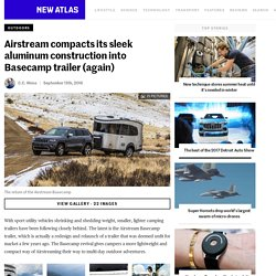 Airstream compacts its sleek aluminum construction into Basecamp trailer (again)