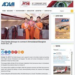 Thai Smile Airways to connect Ahmedabad-Bangkok from Oct. 29