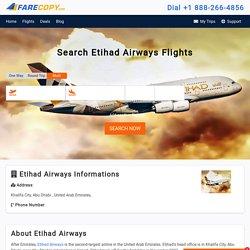 Etihad Airways - Etihad Flights - Cheap Flights - FareCopy.com