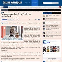 Kenya Airways et Air Côte d'Ivoire se rapprochent