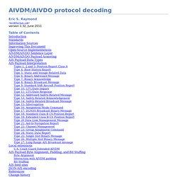 AIVDM/AIVDO protocol decoding