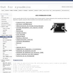 AIX COMMAND GUIDE - U&S for sysadmins