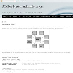 AIX for System Administrators: ODM