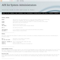 AIX for System Administrators