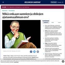 Mikä onkaan sunnien ja shiiojen ajatusmaailman ero? - Päivän lehti 19.3.2017 - HS.fi