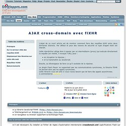 AJAX cross-domain avec flXHR