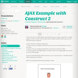 AJAX Example with Construct 2