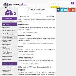 AJAX Examples
