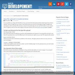 Ajax file upload in modal window