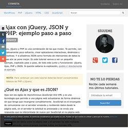 Ajax con jQuery, JSON y PHP