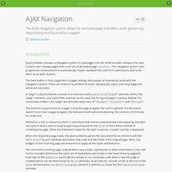 Ajax Nav - jQuery Mobile Demos