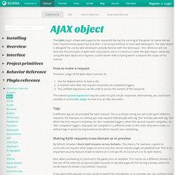 AJAX object