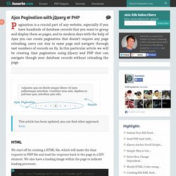 Ajax Pagination with jQuery & PHP