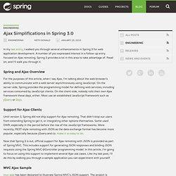 Ajax Simplifications in Spring 3.0