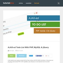 AJAX-ed Todo List With PHP, MySQL & jQuery