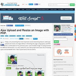 Ajax Upload and Resize an Image with PHP.