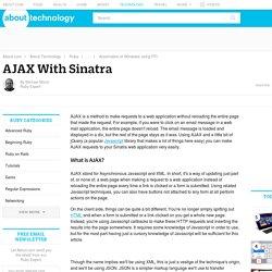 AJAX With Sinatra