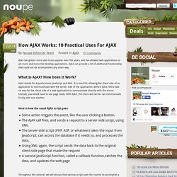How AJAX Works: 10 Practical Uses For AJAX | Noupe