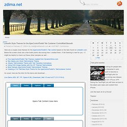 LinkedIn Style Themes for the AjaxControlToolkit Tab Container ControlMatt Berseth « ZDima.net