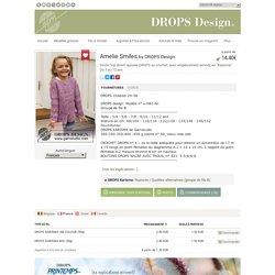 """Amelie Smiles - Veste """"top down"""" ajourée DROPS au crochet, avec empiècement arrondi, en """"Karisma"""". Du 3 au 12 ans. - Free pattern by DROPS Design"""