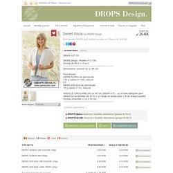 """Sweet Alicia - Étole ajourée DROPS avec petites torsades, en """"Alpaca"""" et """"Kid-Silk"""". - Free pattern by DROPS Design"""