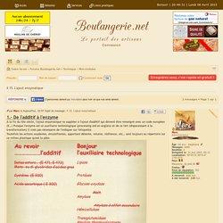 X 15. L'ajout enzymatique Boulangerie.net