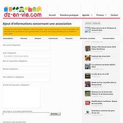 Ajouter une association sur dz-en-vie.com le portail de Douarnenez