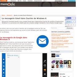 Ajouter un compte Gmail à Windows 8