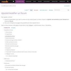 Ajouter/modifier un forum