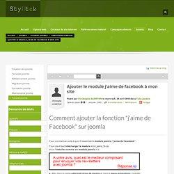 installer module j'aime de Facebook sur mon site Joomla