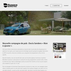 Il n'y a rien à ajouter dans la nouvelle Dacia Sandero