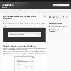Ajouter la recherche d'un site web à votre navigateur