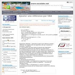 Ajouter une référence par VBA