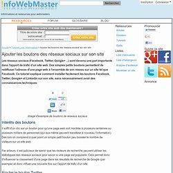 Ajouter les boutons des réseaux sociaux sur son site - Tutoriel pour Webmasters