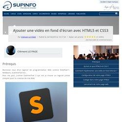Ajouter une vidéo en fond d'écran avec HTML5 et CSS3