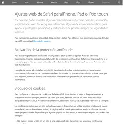 Ajustes web de Safari para iPhone, iPad o iPod touch - Soporte técnico de Apple