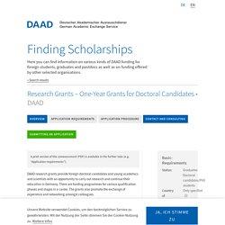 Scholarship Database - DAAD - Deutscher Akademischer Austauschdienst
