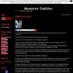MEMOIRE AKASHIQUE · Memoires Oubliées