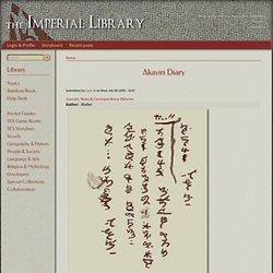 Akaviri Diary