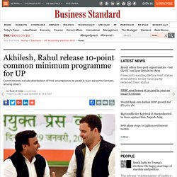 Akhilesh, Rahul release 10-point common minimum programme for UP