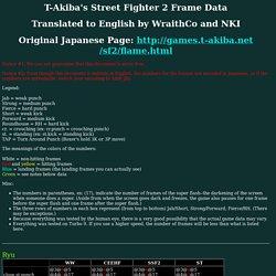 T-Akiba's Street Fighter 2 Frame Data