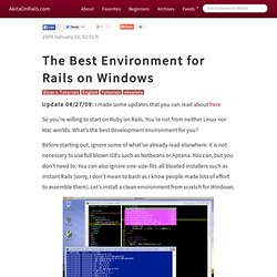The Best Environment for Rails on Windows