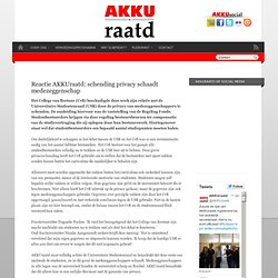 Reactie AKKUraatd: schending privacy schaadt medezeggenschap