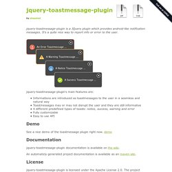 akquinet/jquery-toastmessage-plugin @ GitHub