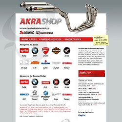 Onlineshop für Motorradauspuffanlagen für HONDA